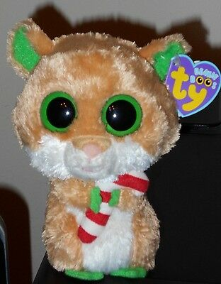 "NMT* Ty Beanie Boos ~ CANDY CANE the 6"" Hamster ~ MINT with NEAR MINT TAGS"