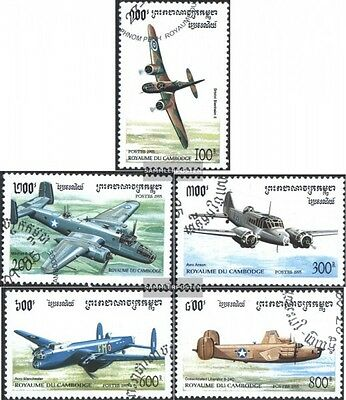 Cambodia 1529-1533 (complete issue) used 1995 Combat Aircraft i