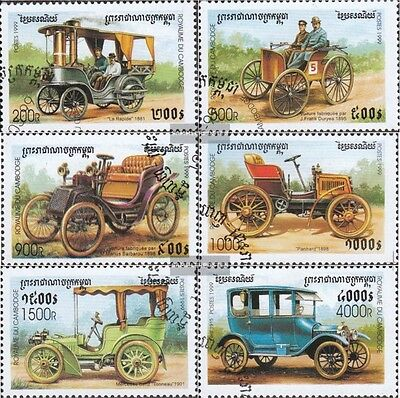 Cambodia 1913-1918 (complete issue) used 1999 Old Automobile