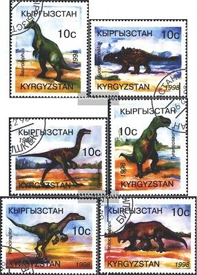 Kyrgyzstan 147-152 (complete issue) used 1998 Prehistoric Anima