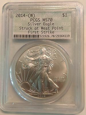2014-(W) American Silver Eagle $1 Dollar Coin First Strike. Pcgs: Ms70. 29364119