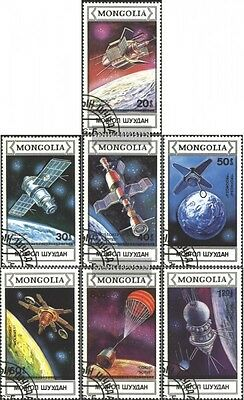 Mongolia 1974-1980 (complete issue) used 1988 Spacecraft and Sa