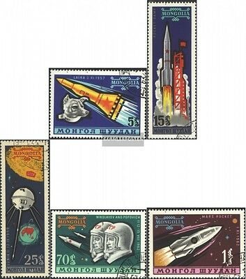 Mongolia 323-327 (complete issue) used 1963 World Space