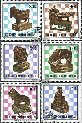Mongolia 1406-1411 (complete issue) used 1981 mongolian Chessme