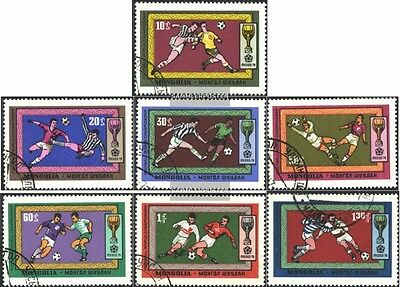 Mongolia 591-597 (complete issue) used 1970 Football-WM ´70, Me