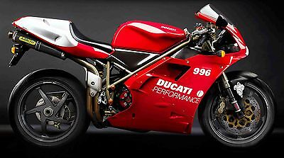Wa10 Ducati 996 Self Adhesive Wall Art Wallpaper Large 916 Sps 998