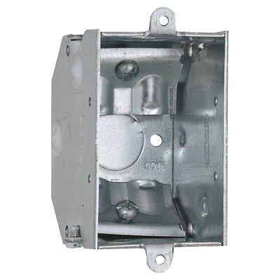 Raco 473 Gangable Switch Box, 1 Gang, 10.5 cu-in x 3 in L x 2 in W x 2-1/4 in D