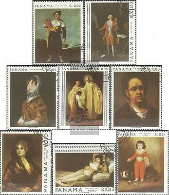 Panama 1019-1026 (complete issue) used 1967 Paintings of Franci