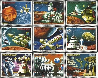 Paraguay 3051-3059 (complete issue) used 1978 Space Projects