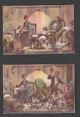 Victorian Trade Card Wilcox & Gibbs Automatic Sewing Macines
