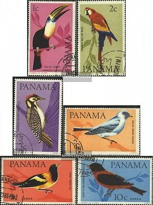 Panama 844-849 (complete issue) used 1965 Birds