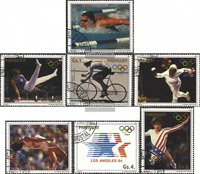 Paraguay 3824-3830 (complete issue) used 1985 olympic. Summer 1