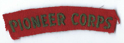 Pioneer Corps  Shoulder Title / Patch
