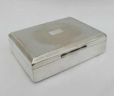 Vintage 1950s Wood & Gilt Lined SILVER PLATED CIGARETTE BOX by ARISTOCRAT