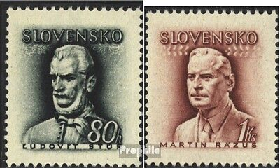 Slovakia 132-133 (complete issue) unmounted mint / never hinged 1944 L. Stur and
