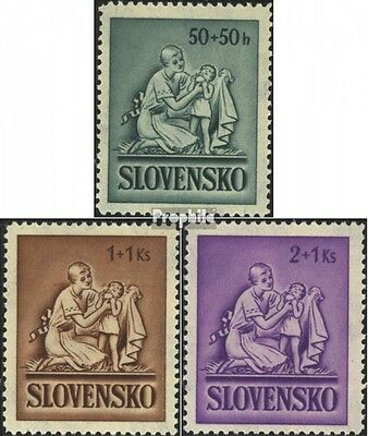 Slovakia 91-93 (complete issue) unmounted mint / never hinged 1941 Childrens Aid