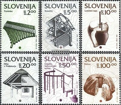slovenia 51-56 (complete issue) used 1993 cultural Heritage