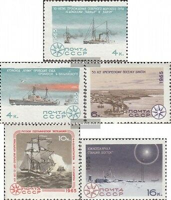 Soviet-Union 3125-3129 (complete issue) used 1965 Study the Arc