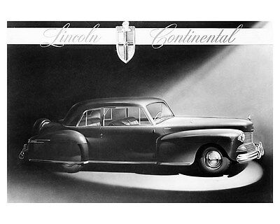 1942 Lincoln Continental 2 Door Coupe ORIGINAL Factory Photo oub2743