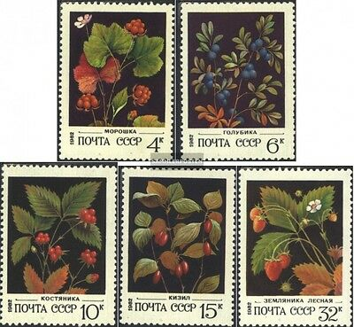 Soviet-Union 5155-5159 (complete issue) used 1982 Wild Berries