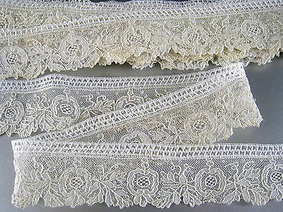 5.5 yds Point de Gaze Lace Trim Handmade Antique Edging Doll Clothes Bride