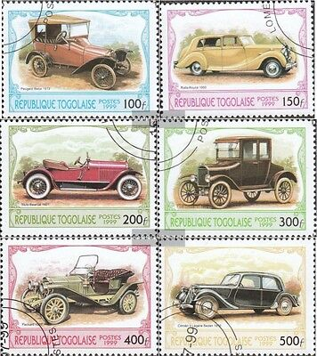 Togo 2882-2887 (complete issue) used 1999 Historical Automotive