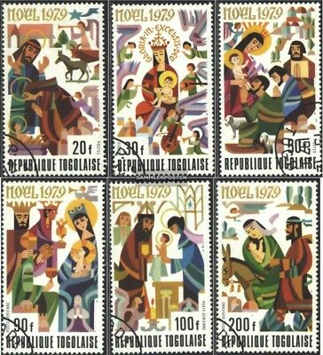 Togo 1402A-1407A (complete issue) used 1979 christmas 1979