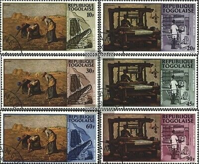 Togo 635A-640A (complete issue) used 1968 Locals Industrializat