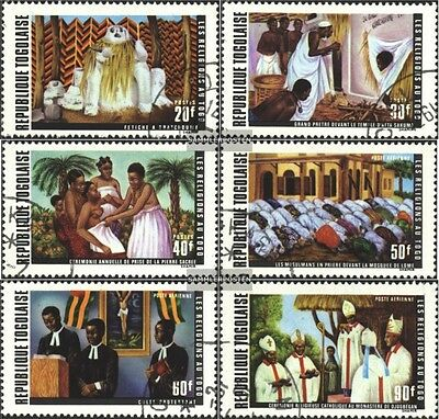 Togo 878A-883A (complete issue) used 1971 Religions in Togo