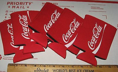Lot 5 Coca-Cola COKE Can Bottle Taller Coozies Koozies NOS Classic Script Logo