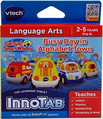 VTech InnoTab Software GO! GO! SMART WHEELS Busy Day in Alphabet Town NEW NIP