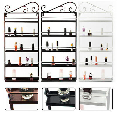 5 Tiers Nail Polish Rack  Display Metal Hang Shelf  Holder UK Stock  Make-up Box