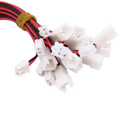 10 pairs Power Jack Plug 2 Pin Wire & Socket Connector Lead 300mm