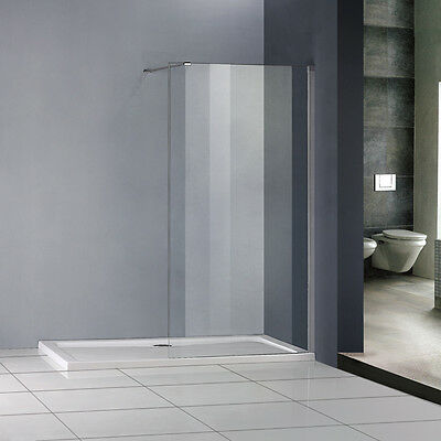New Wet Room Shower Enclosure 8mm NANO Glass Cubicle Screen Panel 1850 1950 2000