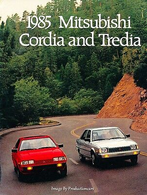1985 MITSUBISHI Cordia and Tredia Brochure mx52109GAJQL 1124