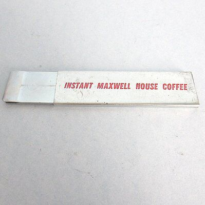 MAXWELL House COFFEE Box Cutter Advertising Instant Metal Vintage