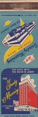 Vintage Hotel Matchbook Cover. The Grady Manning. Little Rock, Ar.