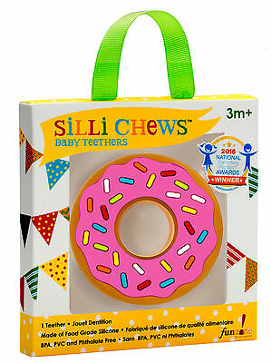 Silli Chews - Pink Donut - Silicone Baby Teether *NEW*