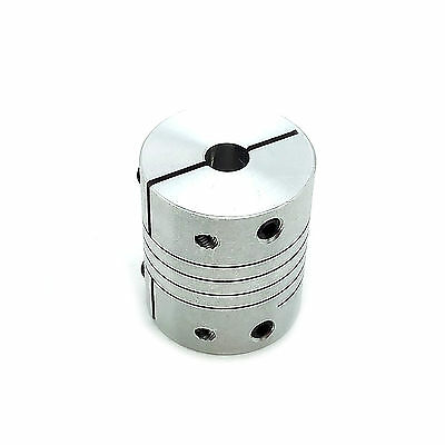 "6.35 1/4"" x 12mm Flexible Shaft Coupling Rigid CNC Stepper Motor Coupler D25 L30"