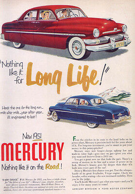 Mercury Nothing like it for Long Life! Ad 1951