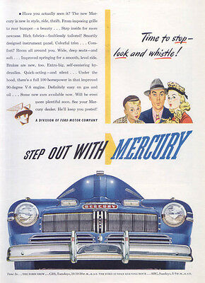 Mercury Time to stop look and whistle! Ad 1946
