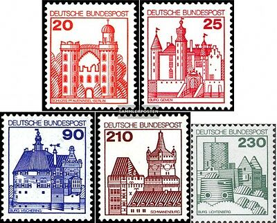 FRD (FR.Germany) 995-999 (complete issue) FDC 1979 fortresses,castles