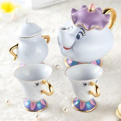 Film Beauty and the Beast Mrs Potts Chip Cup Tea Pot Set Ceramics Collection New