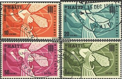 Haiti 745-748 (complete issue) used 1963 Fight against the Hung