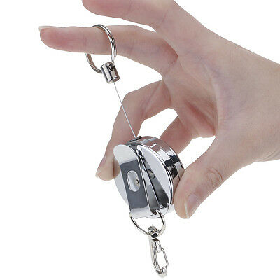 Practical Retractable Metal High-elastic Telescopic Wire Rope Keyring Key Chain