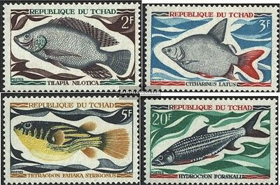Chad 282-285 (complete issue) used 1969 Locals Freshwater Fish