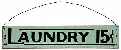 Retro Style Metal Sign - Laundry. Hanging sign. 40cm x 8cm