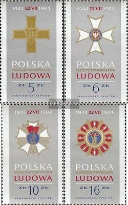 Poland 2926-2929 (complete issue) unmounted mint / never hinged 1984 40 years Pe