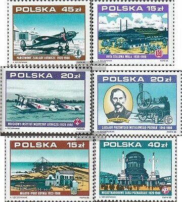 Poland 3158,3162,3164, 3177,3181,3183 (complete issue) unmounted mint / never hi