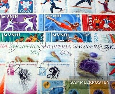 Albania 50 different special stamps  in complete Expenditure